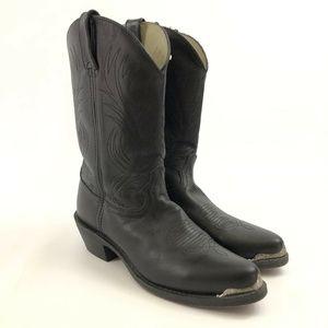 Durango Mens Cowboy Boots 9 Med Black Leather